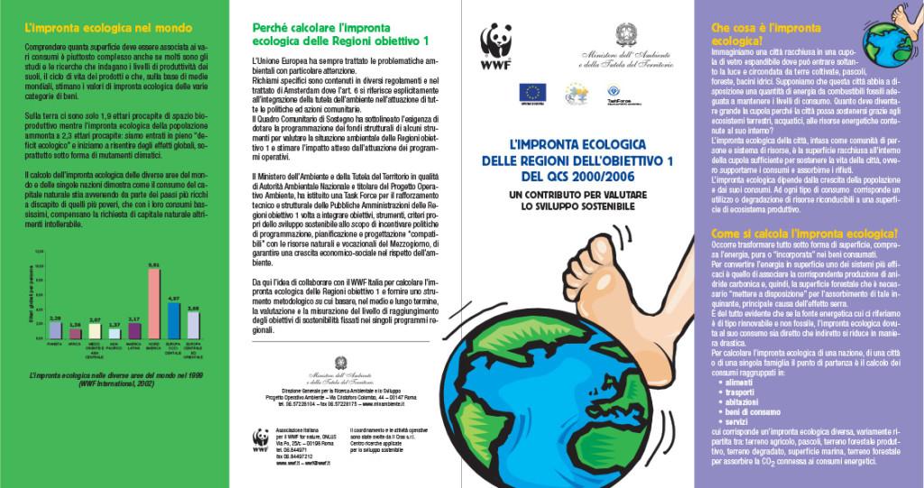 Impronta Ecologica Regioni - depliant