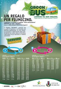 Fiumicino GreenBus locandina orario